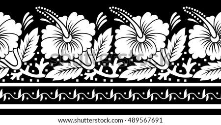 Black white flower border stock vector royalty free 489567691 black and white flower border mightylinksfo
