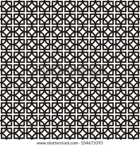 Black and white geometric background - stock vector