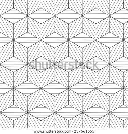 Black and white geometric pattern, background vector. - stock vector