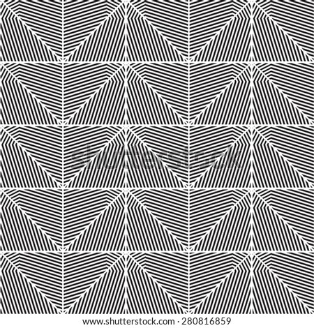 Black and white geometric pattern background vector. Modern stylish texture.