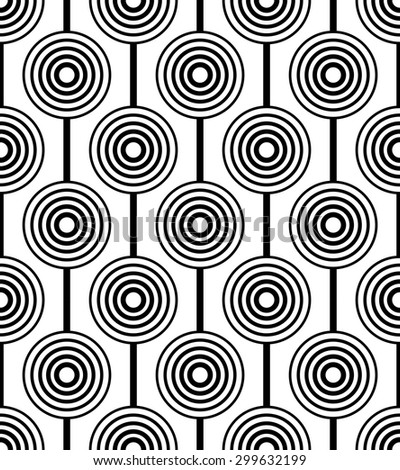 Black and white geometric seamless pattern. Abstract background. Vector seamless pattern. - stock vector