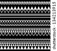 Black and white geometric seamless pattern (vector version) - stock vector