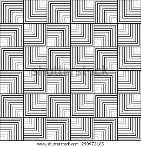 Black and white geometric seamless pattern with line. Abstract background. Vector seamless pattern.