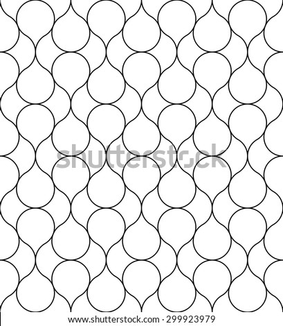 Black and white geometric seamless pattern with line. Abstract background. Vector seamless pattern. - stock vector