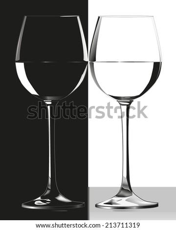 Black and white glasses - stock vector