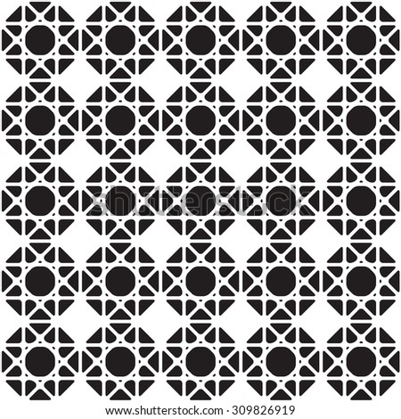 Black and white  graphic pattern abstract vector background. Modern stylish texture.