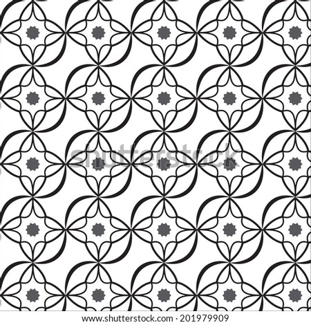 Black and White graphic pattern for abstract vector background. - stock vector