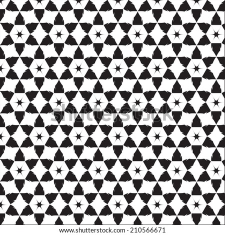 Black and White graphic pattern for abstract vector background.