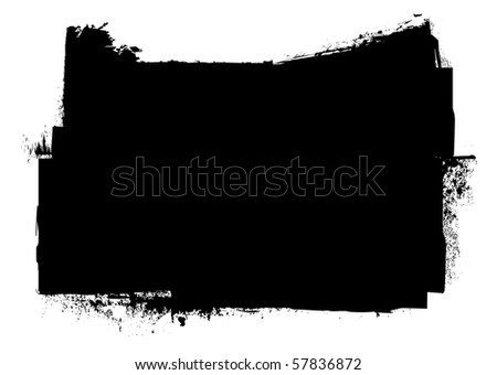 Black and white grunge ink splat banner concept with copyspace - stock vector