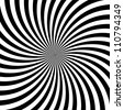 Black and white hypnotic background. vector illustration - stock vector
