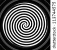 Black and white hypnotic spiral - stock vector