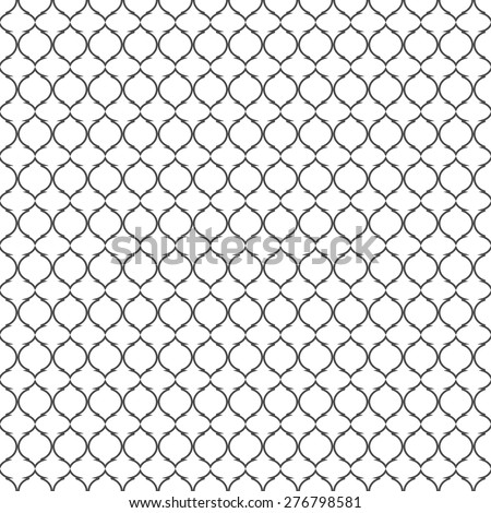 Black and white lattice pattern.Traditional seamless vector background. - stock vector