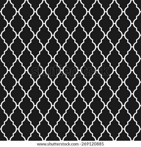 Black and white lattice  seamless pattern. Vector background. - stock vector