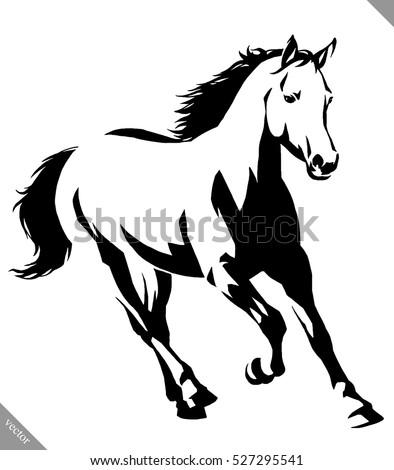 black white linear paint draw horse stock photo photo vector rh shutterstock com horse vector design horse vector silhouette