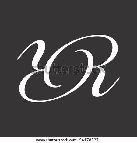 Black And White Logo Letter Y R Vector Design