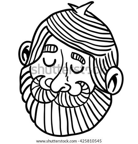 Astonishing Cartoon Illustration Tall Man Beard Flipping Stock Illustration Hairstyles For Men Maxibearus