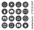 Black and White mobile phone icons - stock vector
