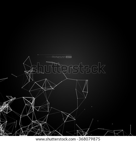 Black and White Modern Lines Background | Vector Illustration