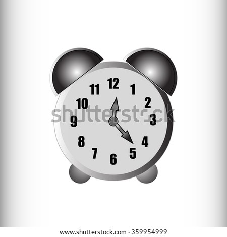 Black and white monochrome vector alarm clock. A simple technical device. Clock Vector. Clock JPEG. Clock Object. Clock Picture. Clock Image. Clock Graphic. Clock Art. Clock JPG. Clock EPS.