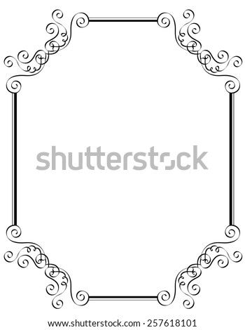 Black and white ornamental border / frame specially for wedding / party invitation cards  - stock vector