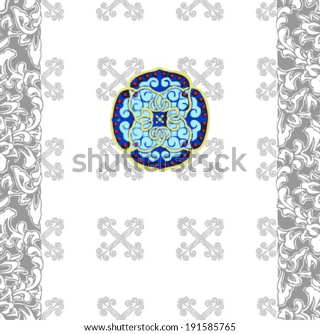 black and white patten  background, vector - stock vector