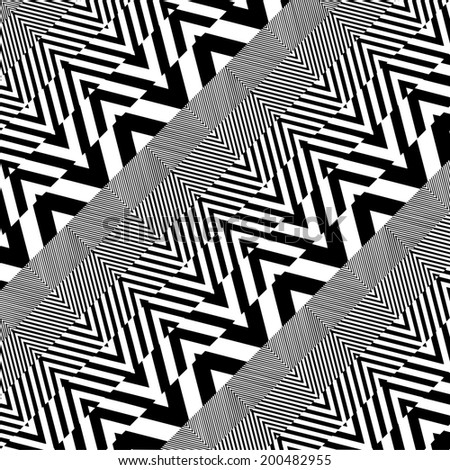 Black And White Pattern Vector 55 - stock vector