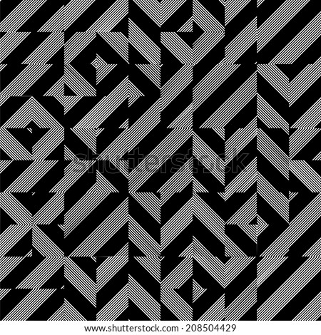 Black And White Pattern Vector 95 - stock vector