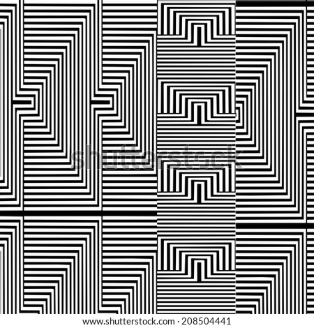 Black And White Pattern Vector 98