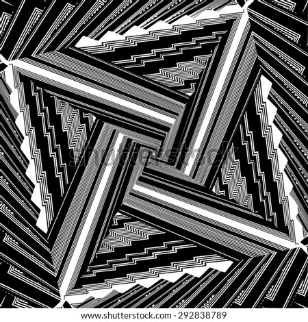 Black And White Pattern Vector 165 - stock vector