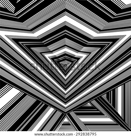 Black And White Pattern Vector 163 - stock vector