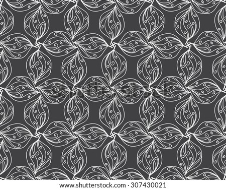 Black and white seamless. - stock vector
