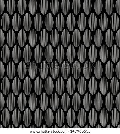 Black and white seamless abstract linear pattern. Decorative endless geometrical texture, Template for design textile, covers, package, wrapping paper - stock vector