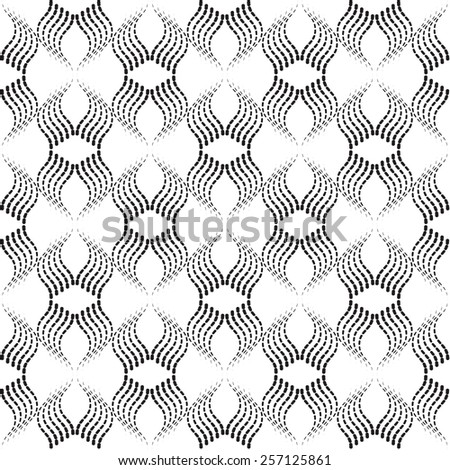 Black and white seamless graphic pattern  vector background. in Work Swatch - stock vector