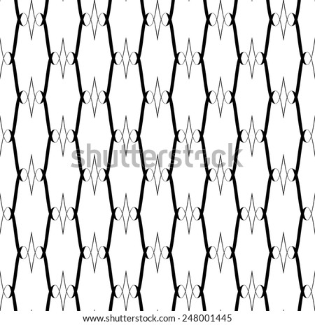 Black and white seamless pattern, abstract background. vector, illustration.