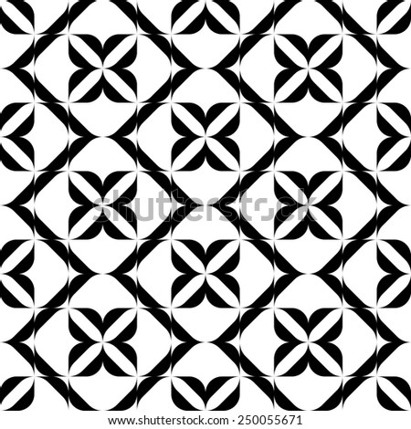 Black and white seamless pattern, abstract background, vector, illustration.