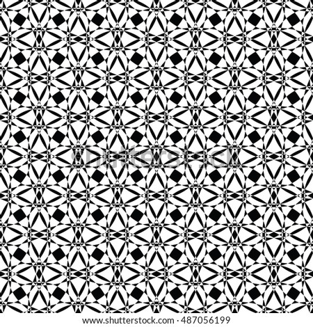 Black and white seamless pattern for wallpapers and background. Monochrome repeatable pattern.