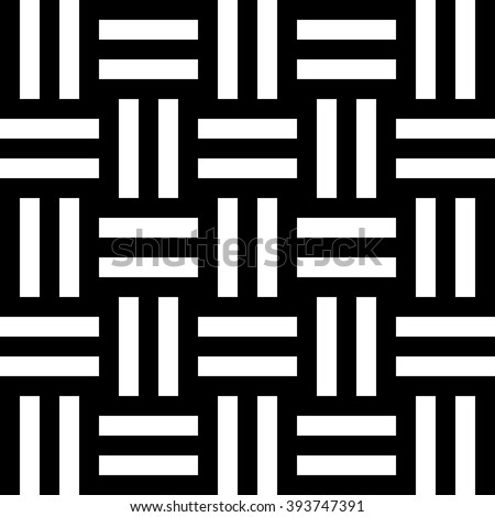 Black and white seamless pattern. Geometric lines background. Vector illustration