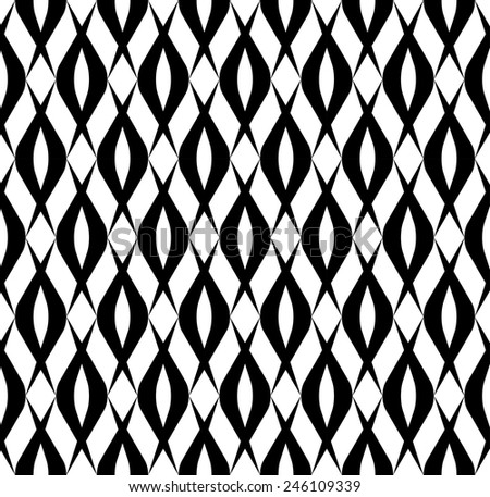 Black and white seamless pattern modern stylish, abstract background, vector, illustration.