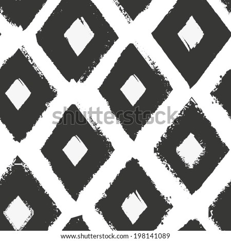Black and white seamless pattern. Oriental monochrome ornament for your design. - stock vector