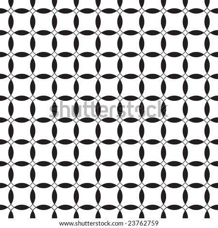 Black-and-white seamless pattern. Vector illustration