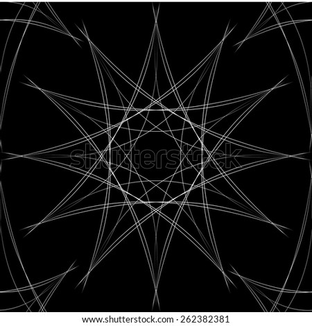 Black and white seamless pattern with white netting - stock vector