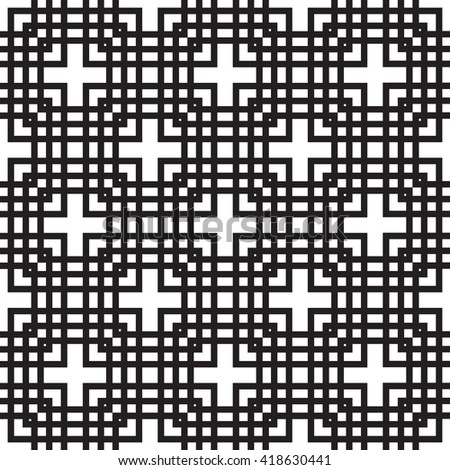Black and white seamless tile background - stock vector