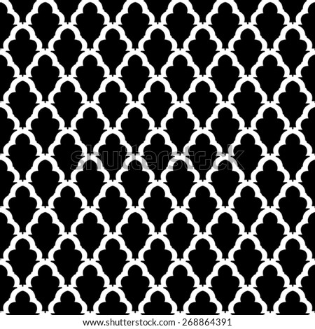 black and white seamless vector. with classic pattern. - stock vector