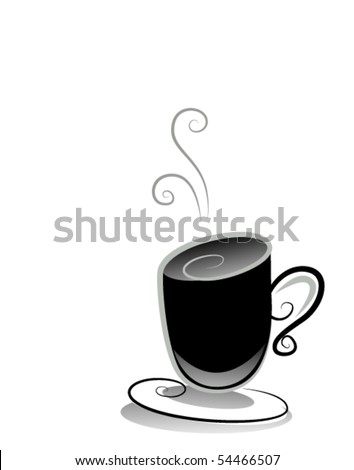 Black and White Series: Coffee - Vector - stock vector