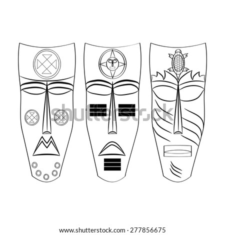 Aztec masks coloring pages murderthestout for Aztec mask template