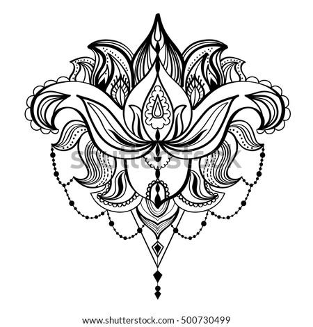 Vector Black White Drawing Bull Skull Stock Vector 572570398