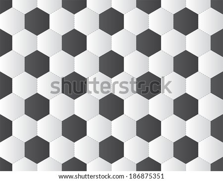 black and white soccer ball seamless pattern. vector. - stock vector
