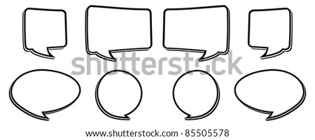 Black Bubbles Black And White Speech Bubbles