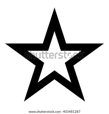 Black White Star Logo Frame Stock Vector 403481287 - Shutterstock