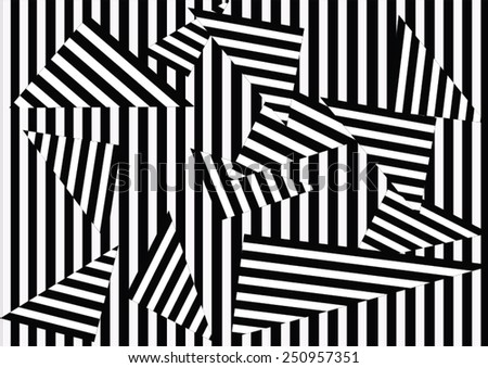 black and white stripe background - stock vector